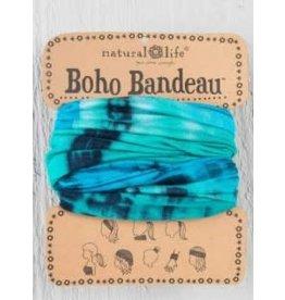Natural Life Boho Bandeau - Turquoise & Blue Tie Dye