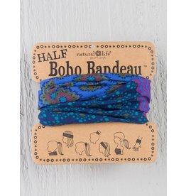 Natural Life Half Boho Bandeau - Purple & Blue Stripe