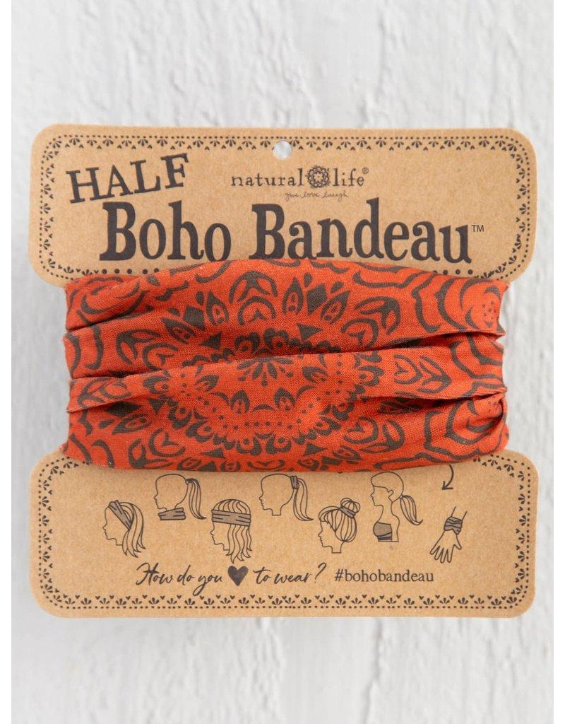 Natural Life Half Boho Bandeau - Rust Mandala