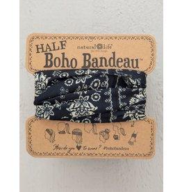 Natural Life Half Boho Bandeau - Black & Cream Mandala