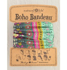 Natural Life Boho Bandeau - Green Stripe