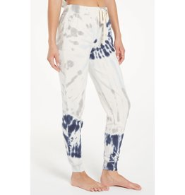 Z Supply Tie Dye Jogger - Deep Indigo