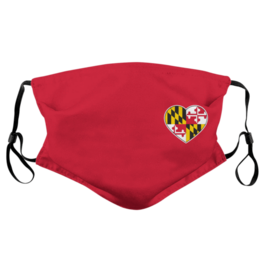 Route One Apparel Maryland Flag Side Heart Mask