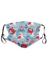 Route One Apparel Captain Of The Crabby Seas Face Mask