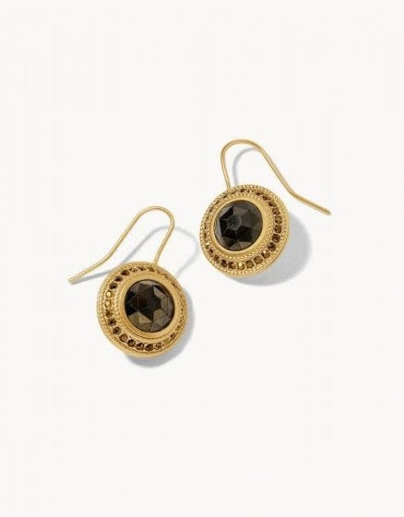 Spartina 449 Gold Medallion Earrings - Pyrite
