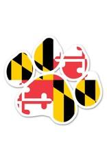 MarylandMyMaryland MD Paw Print Magnet