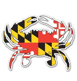MarylandMyMaryland MD Flag Crab Magnet