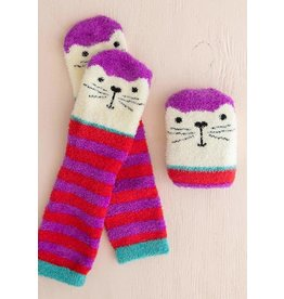Natural Life Cozy Cat Socks