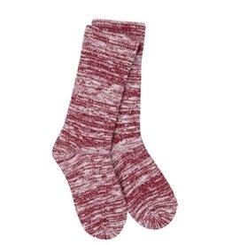 Crescent Sock Company Light Slub Crew Socks - Bikini Red