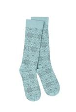 Crescent Sock Company Snowfall Crew Socks - Peacock