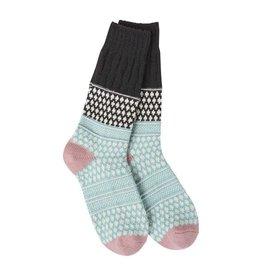 Crescent Sock Company Gallery Textured Crew Socks - Winter Sky