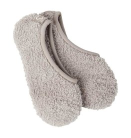 Crescent Sock Company Cozy Footsie Socks w/Grippers -Taupe