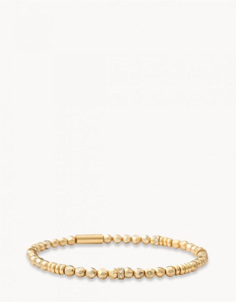 Spartina 449 Faceted Gold Stretch Bracelet