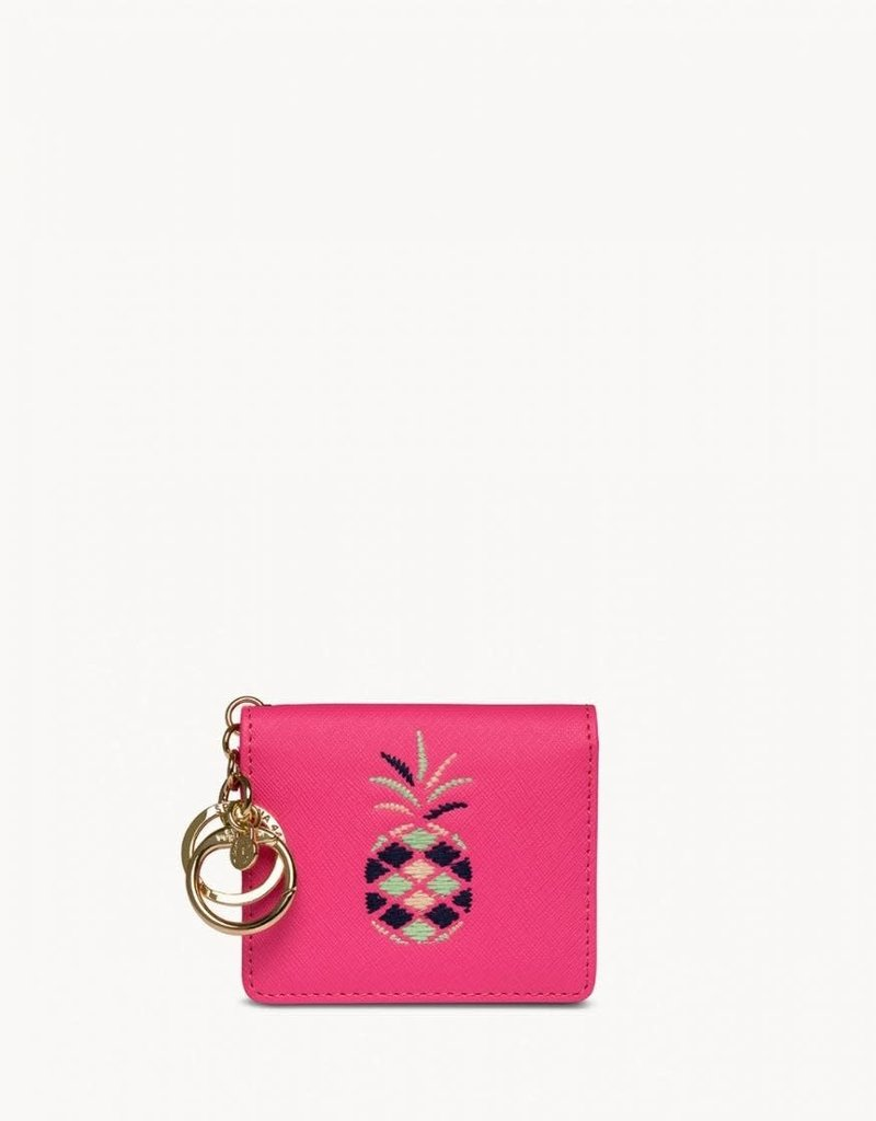 Spartina 449 Embroidered Card Keychain - Pineapple Pink
