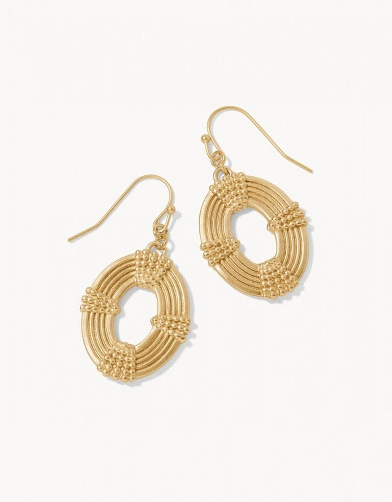 Spartina 449 Oval Medallion Earrings - Gold