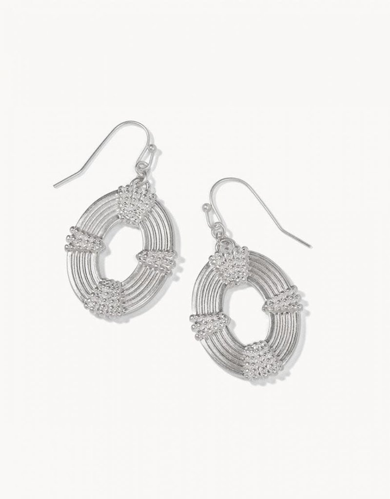 Spartina 449 Oval Medallion Earrings - Silver