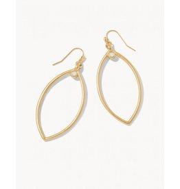 Spartina 449 Petal Earrings - Gold