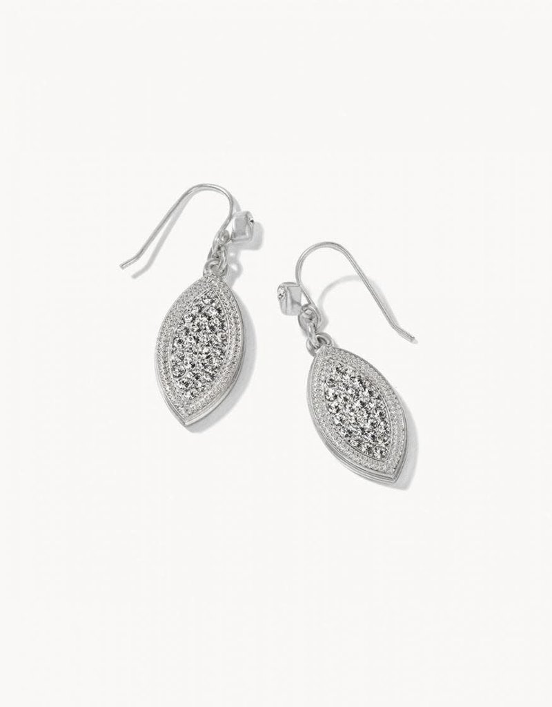 Spartina 449 Petite Pave Petal Earrings - Silver/Crystal