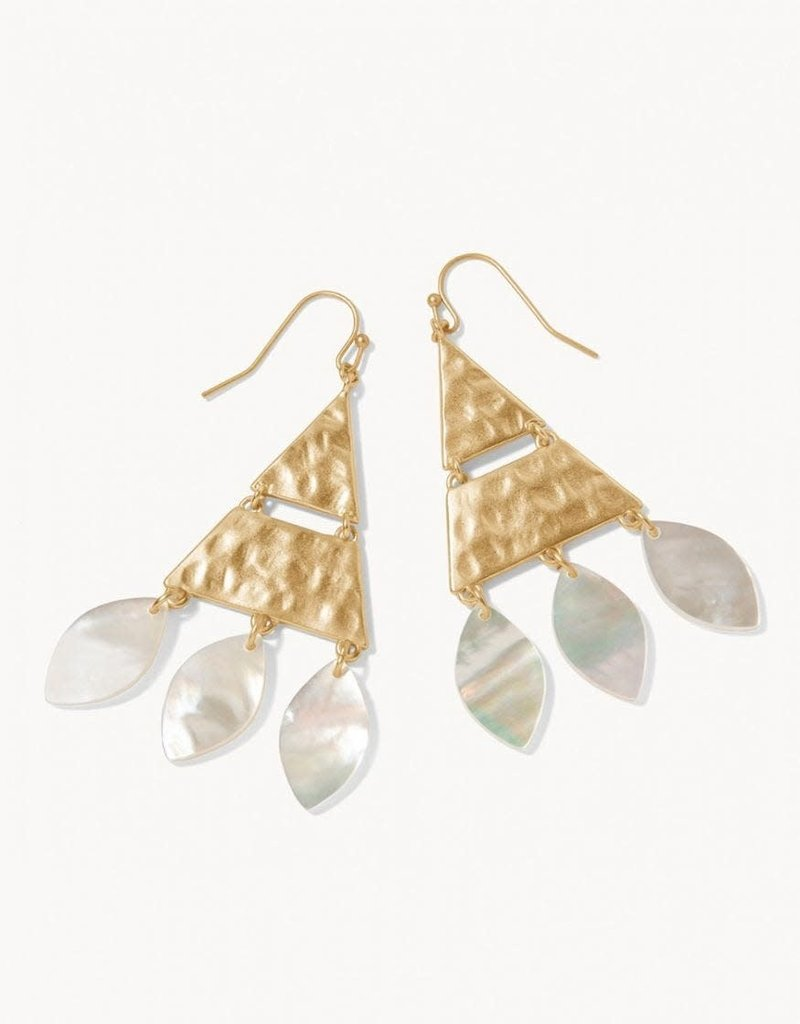 Spartina 449 Sweetspire Triangle Earrings - Mother of Pearl