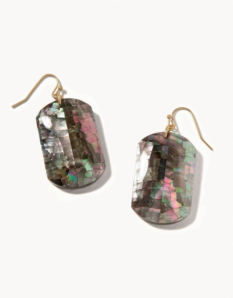 Spartina 449 Crushed Pearl Earrings - Iced Grey
