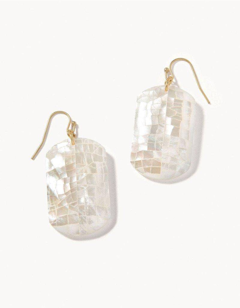 Spartina 449 Crushed Pearl Earrings - White