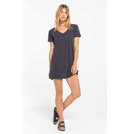 Z Supply Washed Black Organic Cotton T-Shirt Dress