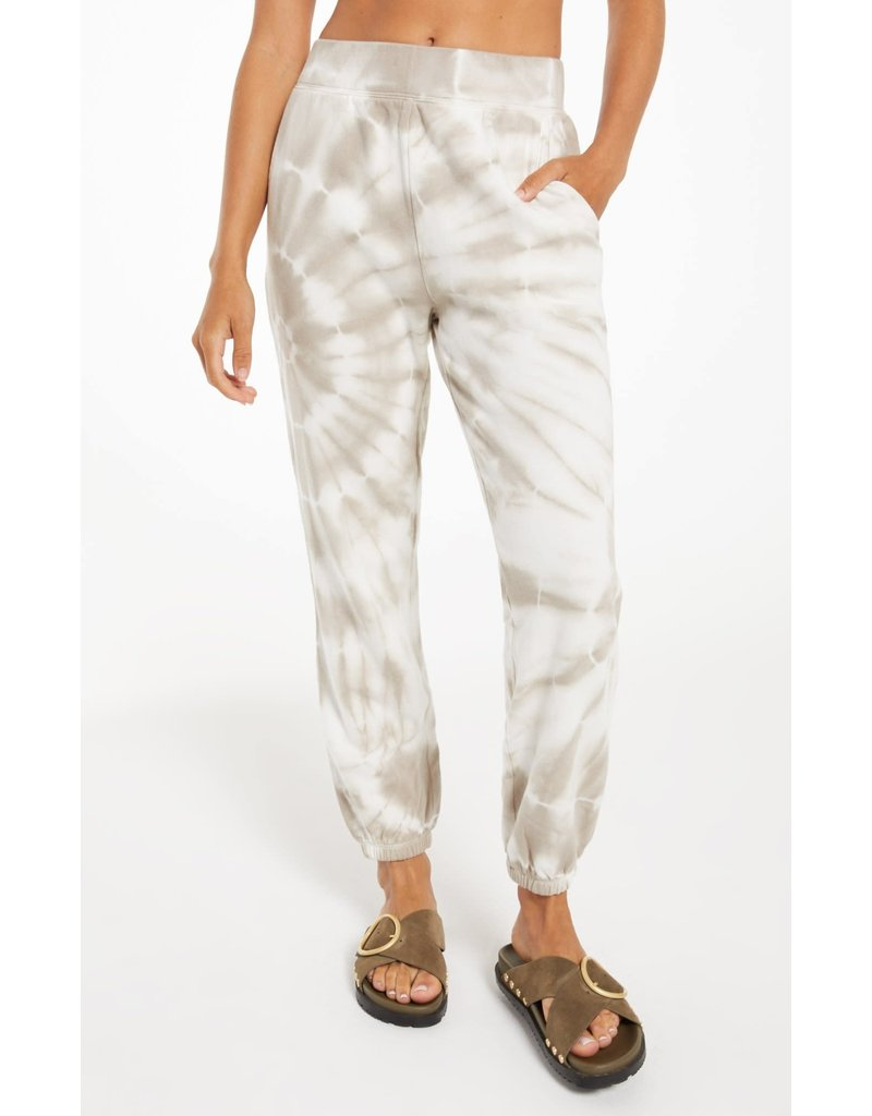 Z Supply Emery Spiral Tie-Dye Jogger - Taupe