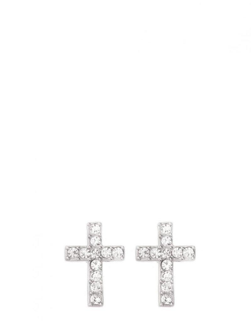 Spartina 449 Sea La Vie Have Faith Stud Earrings - Silver