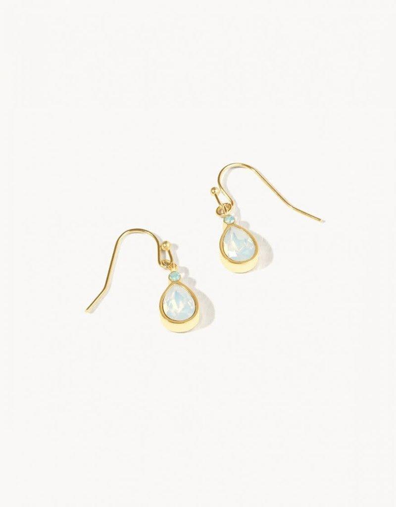 Spartina 449 White Opal Teardrop Drop Earrings - Gold