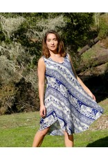Zig Zag Asian Collection Elephant Dress - Blue