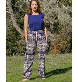 Zig Zag Asian Collection Elephant Pants - Purple
