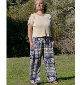 Zig Zag Asian Collection Elephant Pants - Blue