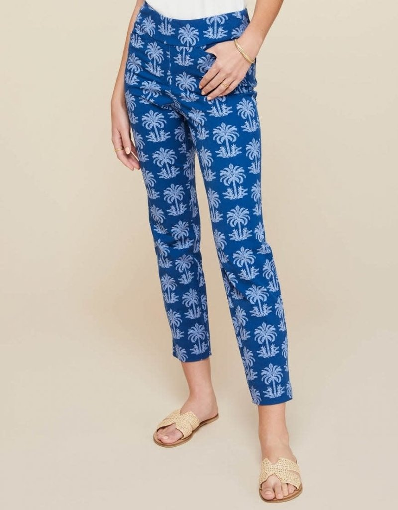 Spartina 449 Maren Pull On Pant - Oyster Alley Navy Palm