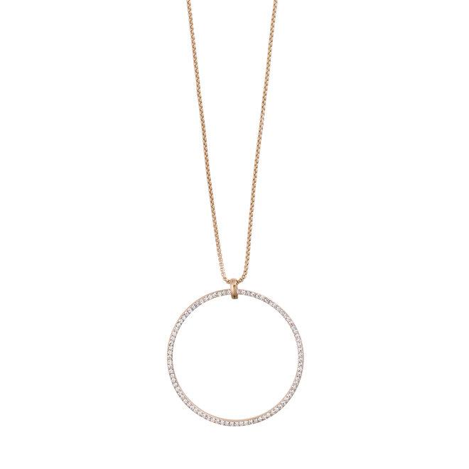 Collier cristal Pilgrim Beauté: 80cm