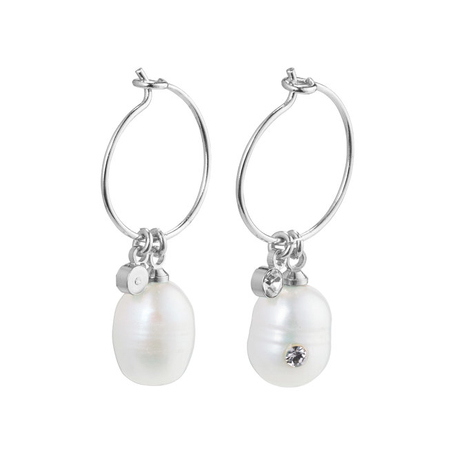 Pilgrim By the Sea Pearl Hoops