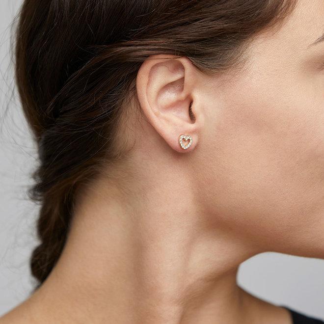 Pilgrim Edie Crystal Stud Earrings