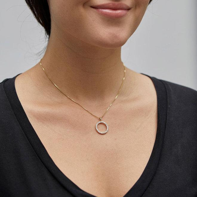 Pilgrim Daisy Crystal Necklace