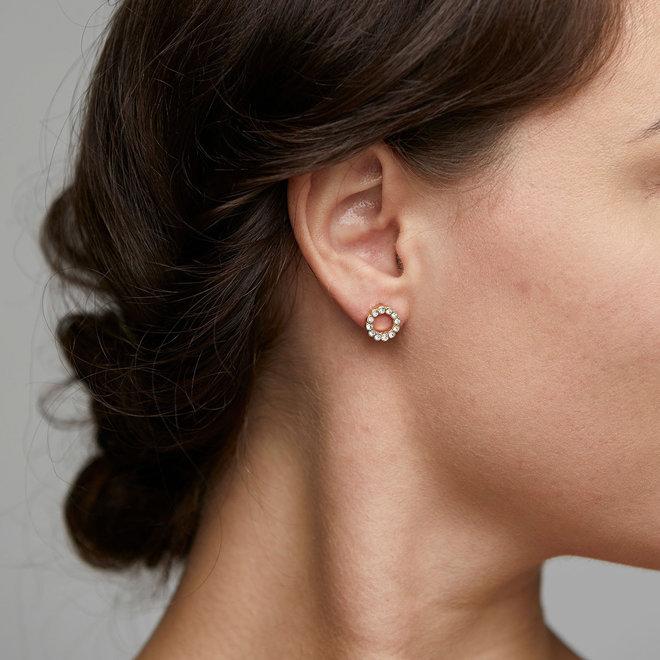 Pilgrim Daisy Crystal Stud Earrings