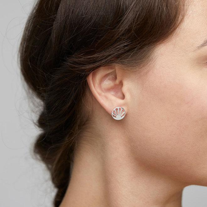 Pilgrim Stud Earrings Fire Element