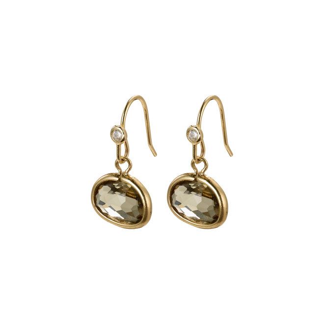 Pilgrim Glass Stone Earrings