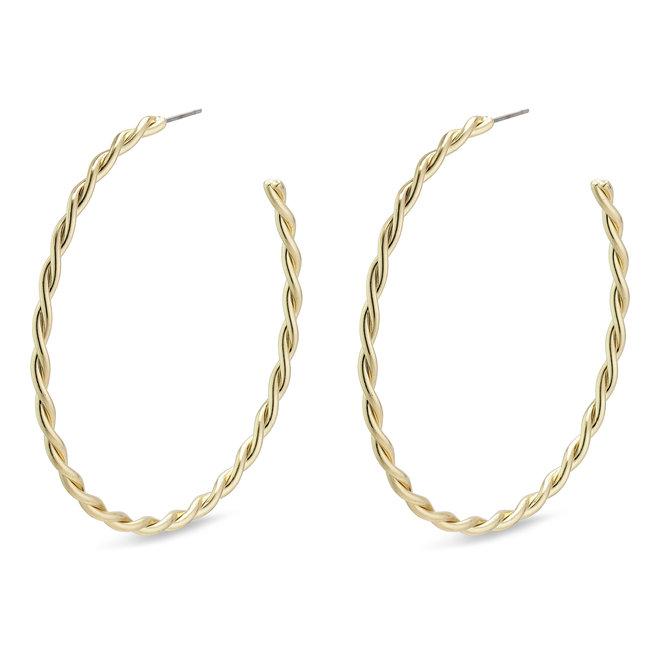 Larges anneaux torsadés Pilgrim Naja