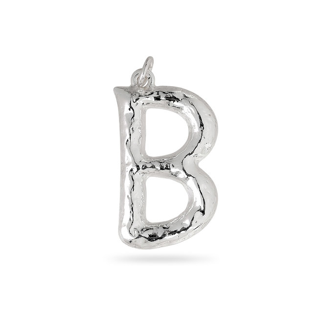 Pilgrim Pendant Big Letter Silver Plated