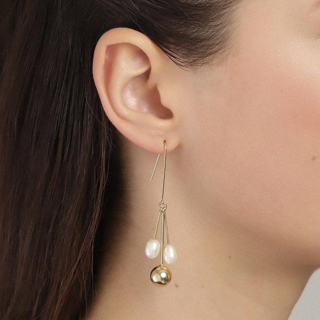 Pilgrim Urd Statement Pearl Earrings
