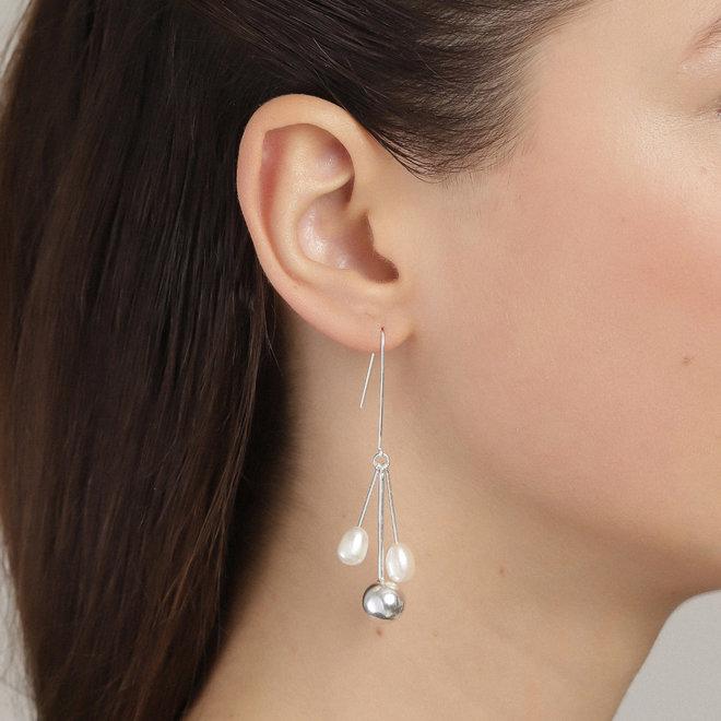 Boucles d'oreilles de perle audacieuses Pilgrim Urd
