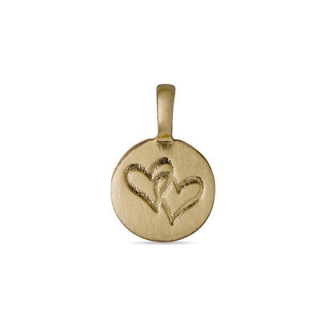 Pilgrim Charm Two Heart Pendant