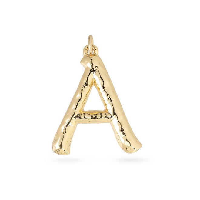 Pendentif Pilgrim Grandes lettres plaqué or