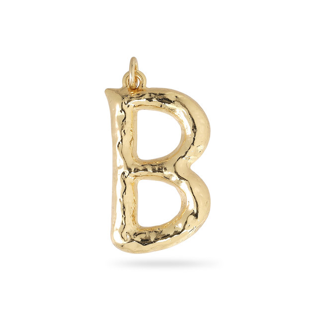 Pilgrim Pendant Big Letters Gold Plated