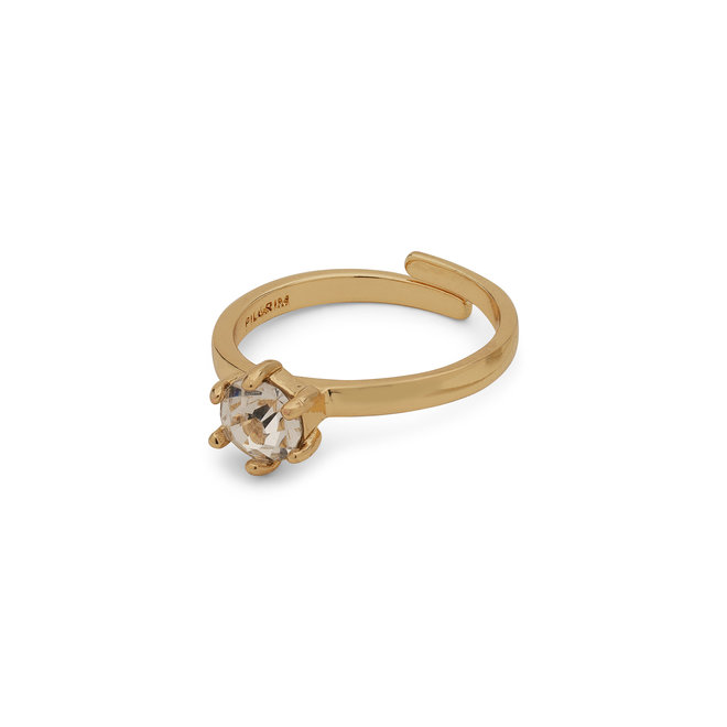 Pilgrim Lulu Solitaire Crystal Ring