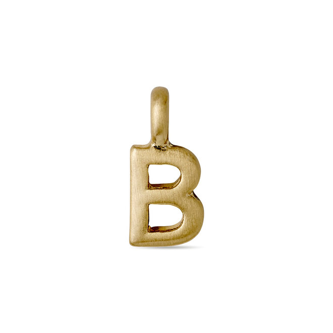 Pilgrim Pendant small Letter Gold plated
