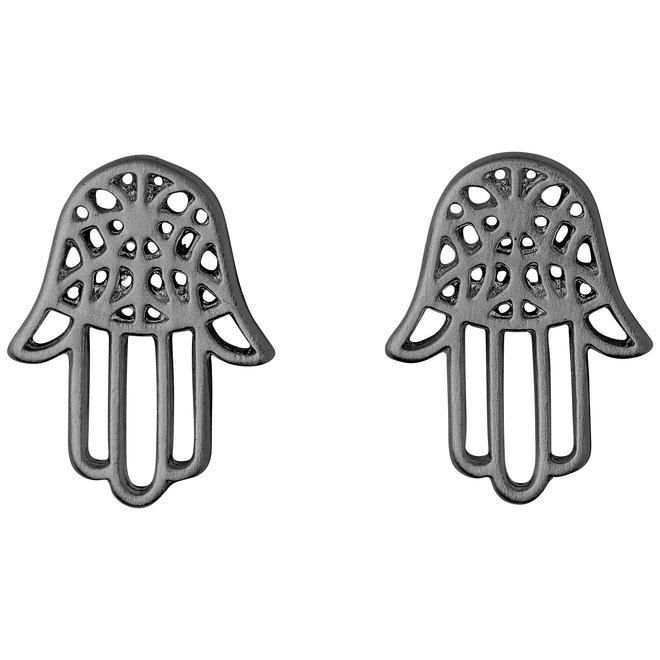 Pilgrim Fatima Hand Stud Earrings